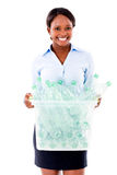Business woman recycling Stock Photos