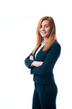 Business woman with red hair Royalty Free Stock Photo