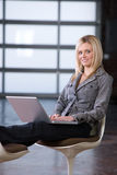 Business woman relaxing Stock Images
