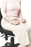 Business woman relaxing on chair Stock Image