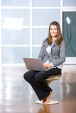 Business woman relaxing with her feet up Royalty Free Stock Photography