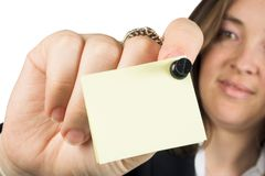Business woman reminder Stock Photography
