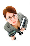 Business woman in research Royalty Free Stock Photos