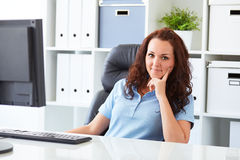 Business woman resting in office stock images
