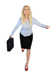 Business woman run Stock Images