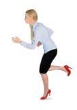 Business woman run Royalty Free Stock Photos
