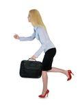 Business woman run Stock Photo
