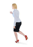 Business woman run side Stock Image