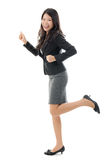 Business woman running. Royalty Free Stock Photos
