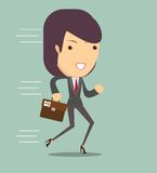 Business woman running Royalty Free Stock Photos