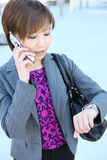 Business Woman Running Late Stock Photo