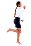 Business woman running late Stock Images