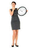 Business woman running late Royalty Free Stock Image