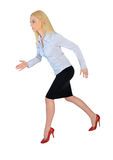 Business woman running side Stock Image