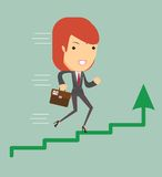 Business woman running Royalty Free Stock Image