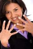Business woman's hands Royalty Free Stock Image