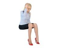 Business woman sad thinking Stock Photo
