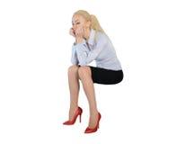 Business woman sad thinking Stock Photos