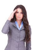 Business woman saluting Royalty Free Stock Photography