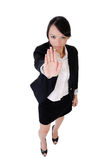 Business woman say no Stock Photo