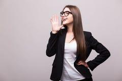 Business woman scream Royalty Free Stock Photos