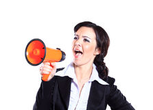 Business woman screaming Royalty Free Stock Photography