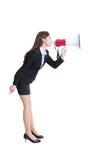 Business woman screaming Stock Photos