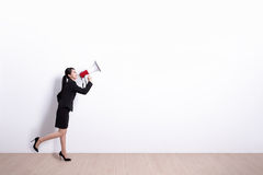 Business woman screaming Royalty Free Stock Images