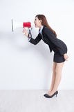 Business woman screaming Royalty Free Stock Photo
