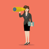 Business woman search in business strategy Stock Photos