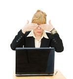 Business woman - See No Evil Stock Image