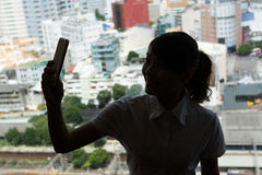 Business woman selfie Stock Images