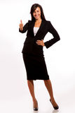 Business woman sending ok sign to others Royalty Free Stock Photos