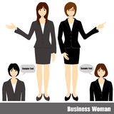 Business woman set Royalty Free Stock Images