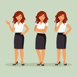 Business woman set royalty free illustration
