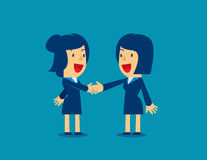 Business woman, shaking hands to seal an agreement. Business woman shaking hands to seal an agreement.Concept business vector Royalty Free Stock Images