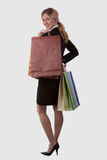 Business woman shopper Stock Photography