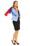 Business woman at shopping Royalty Free Stock Images