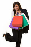 Business woman shopping Stock Image