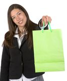 Business woman with shopping bag Royalty Free Stock Photo