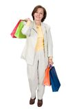 Business woman shopping bags Royalty Free Stock Images