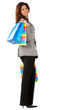 Business woman with shopping bags Royalty Free Stock Image