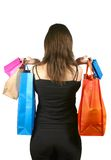 Woman with shopping bags - sally Stock Photography