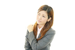 Business woman with shoulder pain. Stock Images