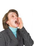 Business woman shouting 2 Stock Image