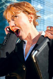 Business woman shouting Stock Photos
