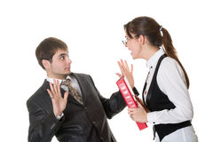 Business woman shouting at the staff Stock Photography