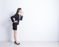 Business woman shouting Royalty Free Stock Photos