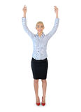Business woman show something Stock Images