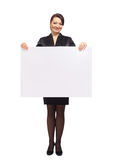 Business woman showing Stock Photo
